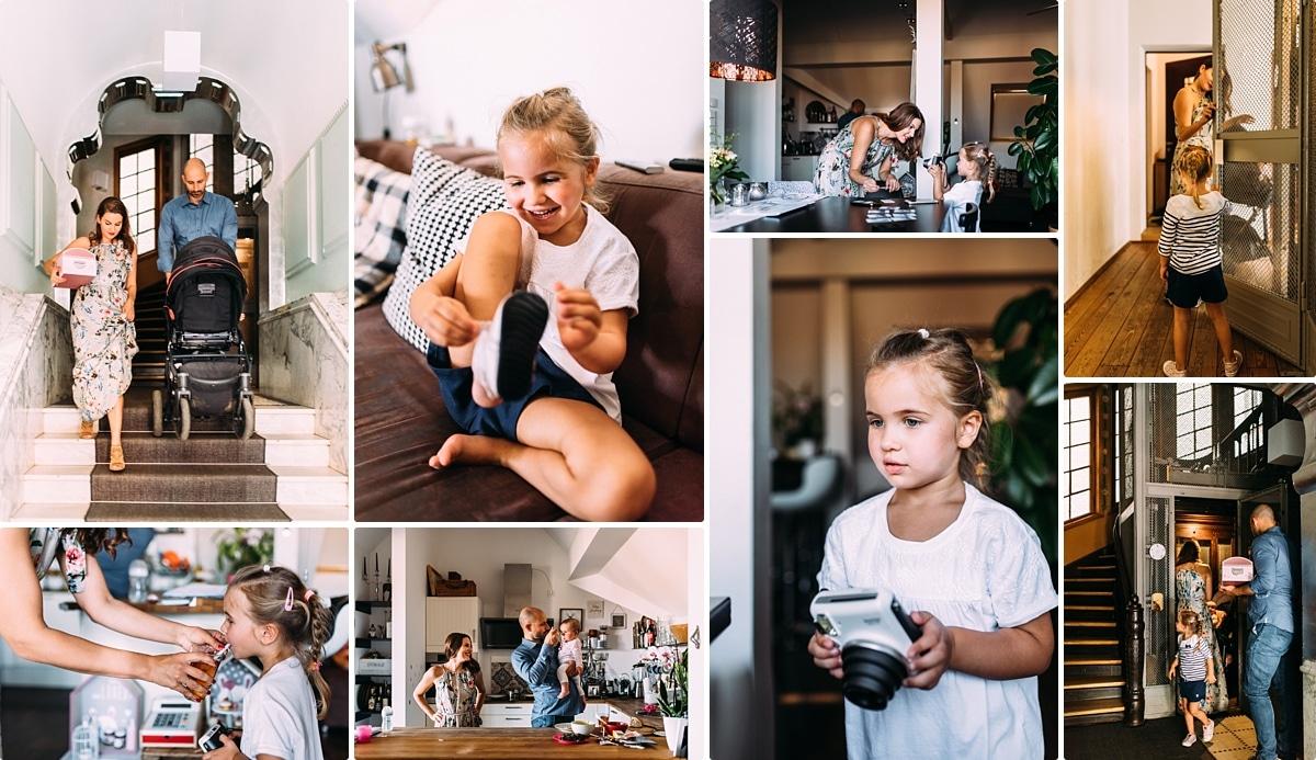 Collage einer Familien Homestory